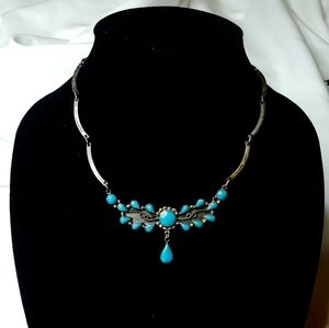 Vintage | 925 Sterling Silver Turquoise Necklace